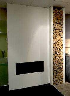 schouw met houtblokken