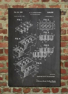 This LEGO patent poster is as informative as it is beautiful.