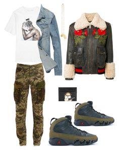 """Untitled #152"" by stylemezamar on Polyvore featuring Gucci, Dolce&Gabbana, Neil Barrett, Versace, G-Star, men's fashion and menswear"
