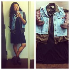 #ootd  Vintage vest | ports blouse | zara shift | Miista shoes Shoppalu.com