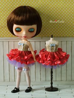 10 OFF Anniedollz Blythe outfits Sweet Candy Ballet by anniedollz, $33.20