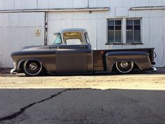 1957 Chevy truck. Lowered