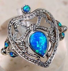 Victorian Blue Opal Ring
