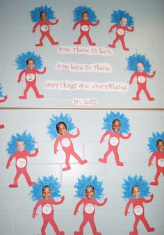 I million Dr. Seuss ideas!! Look up for Read Across America day and Earth Day (Lorax).