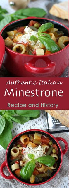 From Italian minestra (soup or to serve), minestrone refers to a preparation of fresh cut seasonal vegetables that are cooked in a broth. #vegetarian #soup