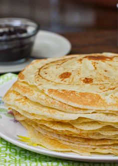 Crepes - easy recipe, can't screw up. :)