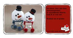 baby en peutermaat - voor meisjes en jongens - sneeuwpop muts - muts op bestelling gehaakt - met de hand op maat en kleur gehaakt - www.vanmijaanjou.nl -