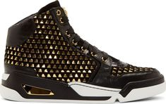♂Stuff And Toys For BIG Boys♂ ♦dAǸ†㉫♦ Versace // Black Suede Gold Weave High-Top Sneakers