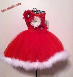Christmas Tutu Dress by TutuStinkinCute12 on Etsy, $30.00