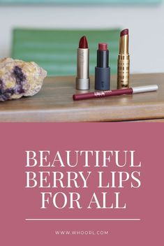 I'm especially excited because, in the past, I could never find the right berry tone for my complexion. It seems many berry lip shades run a bit brown, and that never looked too fab on my face. #lipstick #beauty #colors