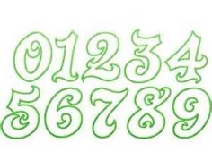 printable number fonts and styles - - Yahoo Image Search Results