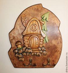 "Ключница ""Сказочный домик"" - резьба по дереву, домик, ключница, сказочный домик, сказка"