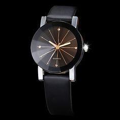engranaje de la personalidad de la correa tira de la manera coreana de la pareja marcar relojes de cuarzo circulares – USD $ 6.39