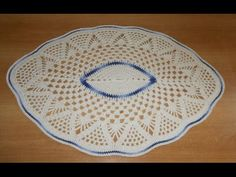 Tapete de Barbante em Croche Oval Azul e Natural parte 3 - crochet rug - alfombra de ganchillo - YouTube