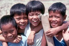 "Filipino children (yes, in the Philippines, they call themselves ""Filipino"")"