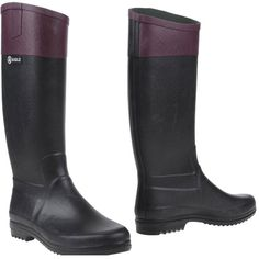 Aigle Boots ($89) ❤ liked on Polyvore featuring shoes, boots, black, round cap, wellington boots, wellies shoes, aigle and rubber rain boots