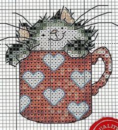 Вышивка веселые коты — Мир вязания и рукоделия