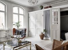 my scandinavian home: Could you sleep in a cupboard - like the one in this Swedish pad?