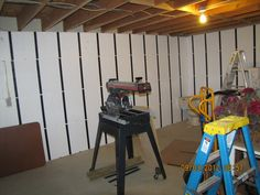 """""""Just got done with the InSoFast installation. It was easy for one novice like me to do and I actually enjoyed doing it! Damp Basement, Basements, Crane, Insulation, Simple, Interior, Wall, Projects, Wet Basement"""
