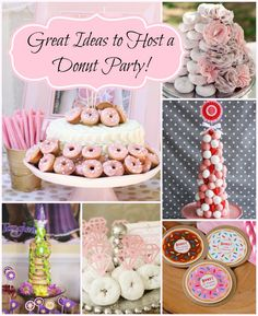 Ideas to host a donut party