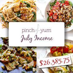July Income Report   pinchofyum.com