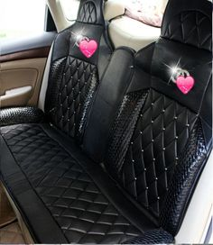 Buy Wholesale Luxury Diamond Chanel Universal Automobile Leather Car Seat Cover Cushion 10pcs Sets