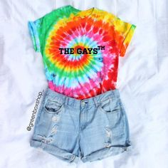 The Gays™ Tie Dye Gay Pride Shirt from GreenBoxShop on Etsy. Shop more products from GreenBoxShop on Etsy on Wanelo. Gay Outfit, Pride Outfit, Lgbt, Gay Pride Shirts, Pride Parade, Lesbian Pride, Aesthetic Clothes, Cute Outfits, Justice Clothing