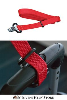 Bag Tow Strap is a security measure for keeping luggage and personal effects safe when traveling. Purchase at inventhelpstore.com. #Traveling
