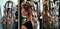 """Trendy braided """"down do"""" -- can be formal or for everyday."""