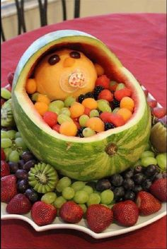 Photo only: Another cute fruit dish for baby shower