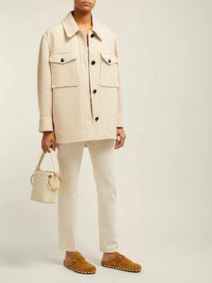Garvey oversized wool coat | Isabel Marant Étoile | MATCHESFASHION.COM US Cream Trousers, Wool Coat, Wool Blend, Khaki Pants, Clothes, Birkenstock Boston, Style, Outfits, Fashion