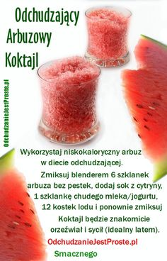 OdchudzanieJestProste.pl - Niezwykłe sposoby na odchudzanie Healthy Juice Drinks, Healthy Juices, Fruit Smoothies, Smoothie Recipes, Helathy Food, Health Eating, Food Labels, Diy Food, Food And Drink