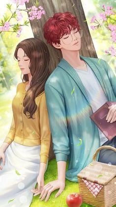 Romantic Anime Couples, Romantic Manga, Cute Couple Art, Anime Love Couple, Otaku Anime, Anime Guys, Alone Girl Images, Cute Love Wallpapers, Cute Romance