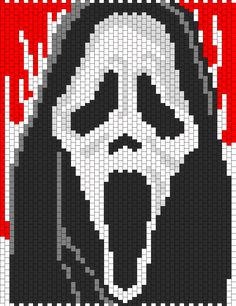 Discover thousands of images about Scream Bead Pattern Pony Bead Patterns, Kandi Patterns, Perler Patterns, Beading Patterns, Peyote Patterns, Cross Stitch Patterns, Cross Stitching, Cross Stitch Embroidery, Art Minecraft
