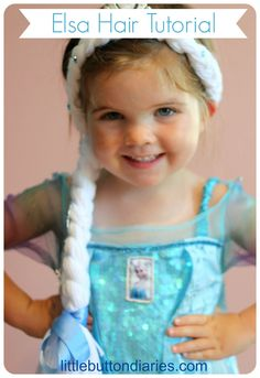 Really easy frozen elsa hair tutorial from little button diaries