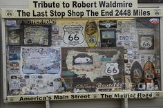 a tribute to Robert Waldmire at the end of Route 66 Santa Monica Pier California