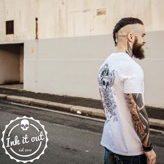 The Heaven sent ⚡ Hell Bent collection  www.inkitout.co.uk Photographer @taylorharfordphoto Model  @edricvalhalla  #fashion #instafashion #swag #style #stylish #outfitoftheday #girl #man #guy #beard  #woman #model#swagger #photooftheday #inked #tattoodesign #tattooedmodel #f4f #chicks #mensfashion #inkitout #clothing #tshirt #urbanstyle #inklife #dailystyle #trendsetter
