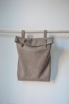 """15"""" en cuir sac à dos / sac en cuir / sac à dos / Messenger / cuir sac à dos / sacoche de portable / pour elle / pour lui / unisexe / sacoche / Grey / minimaliste"""