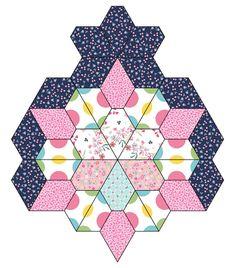 Hexagon Quilting, Hexagons, Quilting Ideas, Millefiori Quilts, Star Quilt Blocks, Patchwork Patterns, English Paper Piecing, Paper Lanterns, Quilt Making