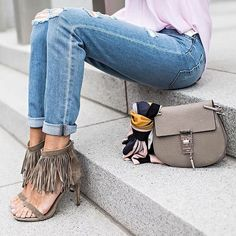 For the perfect outfit just add a Chloe bag and fringe heels.