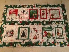 Dr. Seuss Grinch themed Christmas quilt by FabricatedQuilts, $110.00
