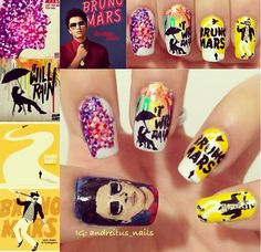 Bruno mars nails! I want these done on my nails !!!
