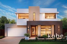 Explore our extensive range of new home designs. Eah home design allows you to choose your level of inclusions and facade to create your perfect home. Modern House Facades, Modern House Plans, Modern House Design, Modern Architecture, Ultra Modern Homes, Modern Bungalow, House Elevation, New Home Designs, Facade House