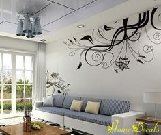 Vinyl Wall Decal - Scroll Wall Decal Wall Sticker