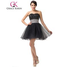 7afab30469521 Cheap dress after, Buy Quality dress hockey directly from China dresses lace  Suppliers: Sexy Special Occasion Dresses Grace Karin Beaded Short Black ...