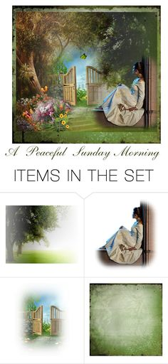 """""""A Peaceful Sunday Morning"""" by glitterlady4 ❤ liked on Polyvore featuring art"""