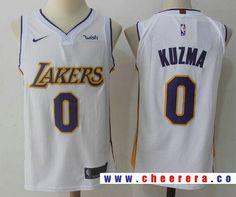 Men s Los Angeles Lakers  0 Kyle Kuzma New White 2017-2018 Nike Swingman  Wish b9a69bcac