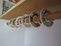 Cute idea for sorting the variety of clothes you get at showers, etc. - DIY Closet Dividers for the nursery by Familie Schmitt, via Flickr