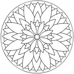 Click to see printable version of Flower Mandala Coloring page