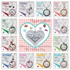 Origami Owl - Birthstones are our most popular charms! Which stones would you put in?  https://epicexpressions,origamiowl.com